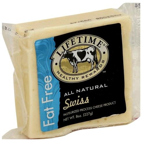 Lifetime Pasteurized Process, Swiss Cheese Product - 8 oz