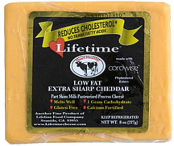 Lifetime Low Fat Extra Sharp Cheddar Cheese - 8 oz