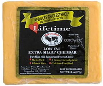 Lifetime Cheese Low Fat Extra Sharp Cheddar
