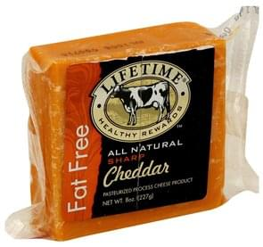 Lifetime Cheese Product Pasteurized Process, Sharp Cheddar