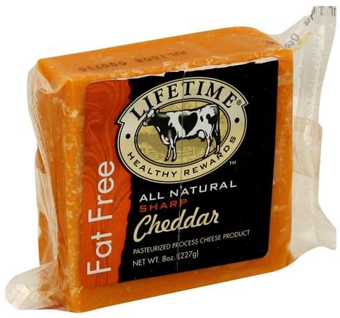 Lifetime Pasteurized Process, Sharp Cheddar Cheese Product - 8 oz