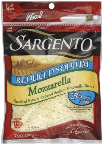 Reduced Sodium Shredded Cheese