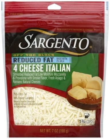 Sargento Shredded, 4 Cheese Italian