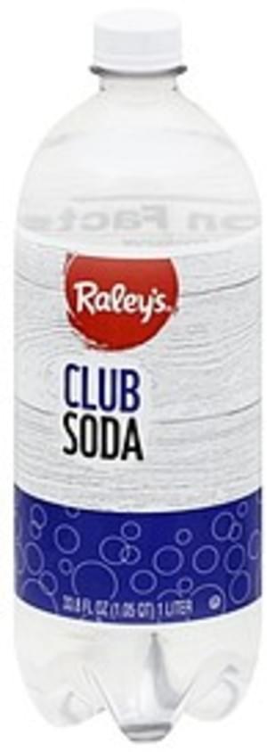 Raleys Club Soda - 33.8 oz