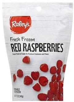 Raleys Raspberries Red, Frozen