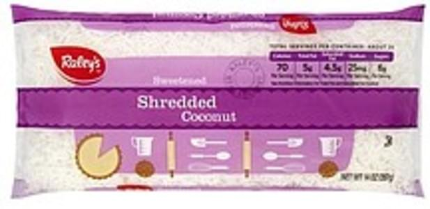 Raleys Coconut Shredded, Sweetened