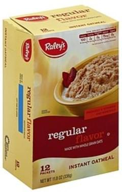 Raleys Oatmeal Instant, Regular Flavor