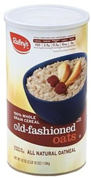 Raleys All Natural, Old Fashioned Oats Oatmeal - 42 oz