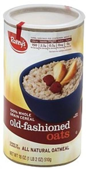 Raleys All Natural, Old Fashioned Oats Oatmeal - 18 oz