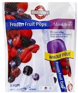 Raleys Frozen Fruit Pops Mixed Berry