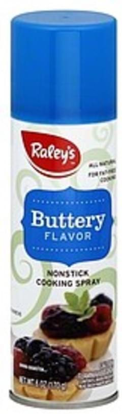 Raleys Cooking Spray Nonstick, Buttery Flavor
