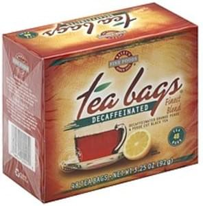 Raleys Black Tea Orange Pekoe & Pekoe Cut, Decaffeinated, Tea Bags