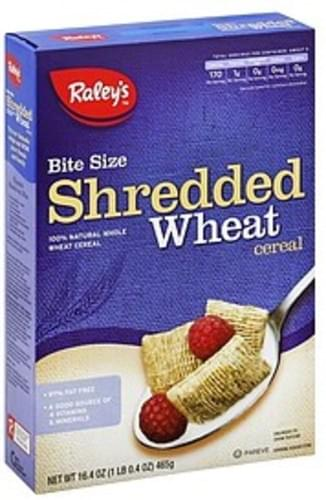 Raleys Shredded Wheat, Bite Size Cereal - 16.4 oz