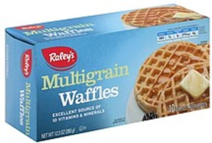 Raleys Multigrain Waffles - 10 ea