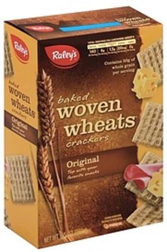 Raleys Baked, Woven Wheats, Original Crackers - 9.5 oz