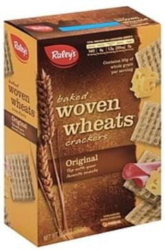 Raleys Crackers Baked, Woven Wheats, Original