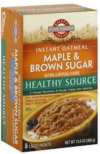 Raleys Healthy Source, Maple & Brown Sugar Instant Oatmeal - 8 ea