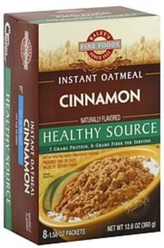Raleys Instant Oatmeal Healthy Source, Cinnamon