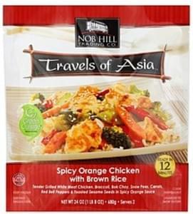 Nob Hill Spicy Orange Chicken with Brown Rice