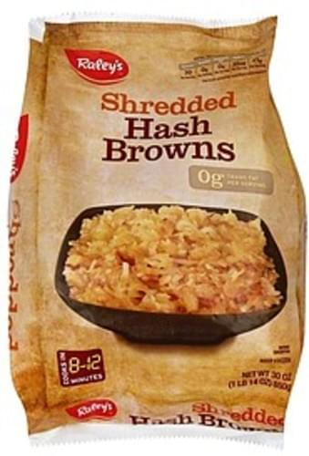 Raleys Shredded Hash Browns - 30 oz