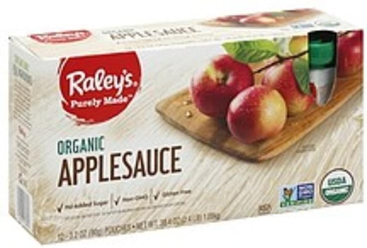 Raleys Organic Applesauce - 12 ea