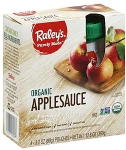 Raleys Organic Applesauce - 4 ea