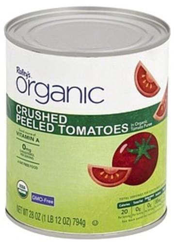 Raleys Peeled, in Organic Tomato Puree, Crushed Tomatoes - 28 oz