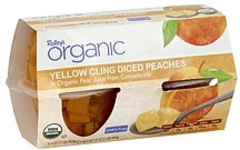 Raleys Diced, Yellow Cling, in Organic Pear Juice from Concentrate Peaches - 4 ea