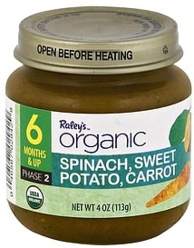 Raleys Phase 2 (6 Months & Up) Spinach, Sweet Potato, Carrot - 4 oz