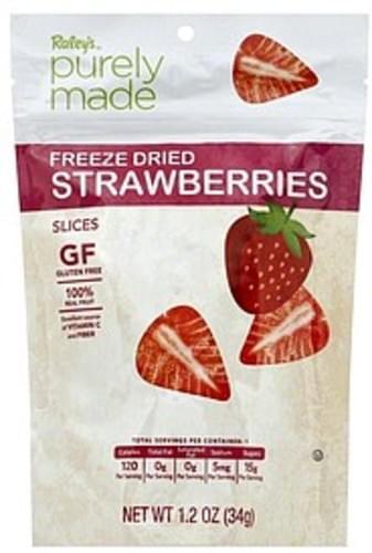 Raleys Freeze Dried, Slices Strawberries - 1.2 oz