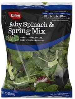 Raleys Salad Mix Baby Spinach & Spring