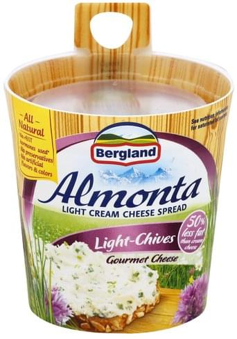 Almonta Light, Light-Chives Cream Cheese Spread - 5.29 oz