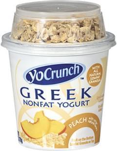 Breyers Yogurt Yocrunch Greek Nonfat Peach