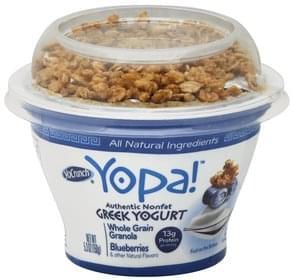 YoCrunch Yogurt Greek, Nonfat, Whole Grain Granola, Blueberries