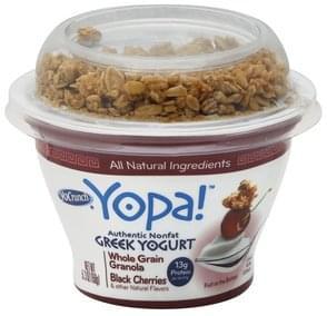 YoCrunch Yogurt Greek, Nonfat, Whole Grain Granola, Black Cherries