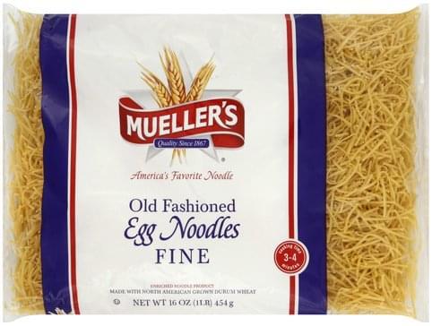 Muellers Old Fashioned, Fine Egg Noodles - 16 oz, Nutrition