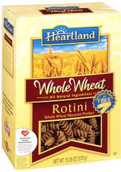 Heartland Macaroni Rotini Whole Wheat All Natural