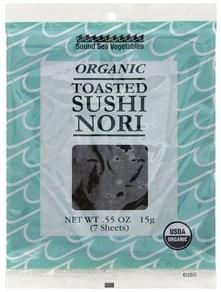 Sound Sea Vegetables Sushi Nori Organic, Toasted