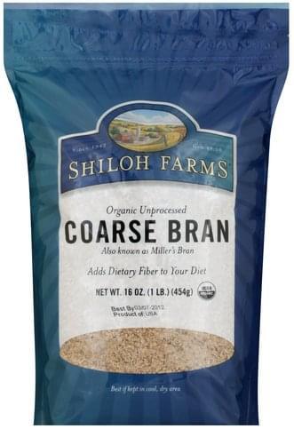 Shiloh Farms Unprocessed Coarse, Organic Bran - 16 oz