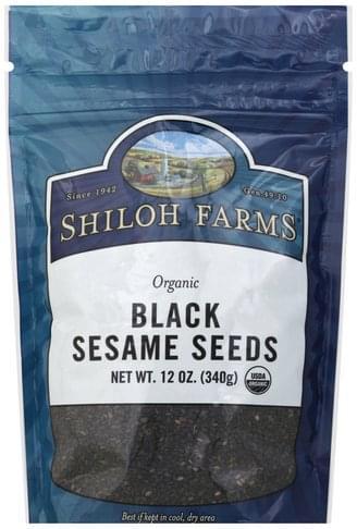 Shiloh Farms Organic, Black Sesame Seeds - 12 oz