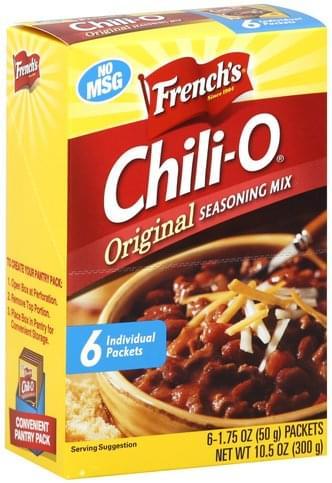 Frenchs Chili O Original Seasoning Mix 6 Ea Nutrition Information Innit