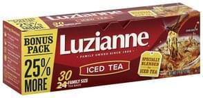 Luzianne Iced Tea Tea Bags, Family Size