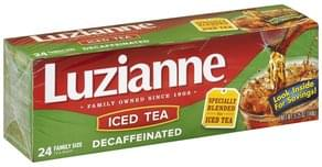 Luzianne Iced Tea Decaffeinated, Bags, Family Size