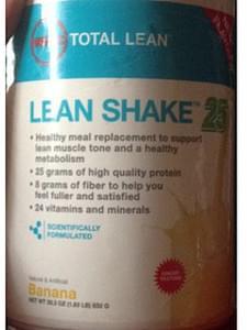 GNC Total Lean Lean Shake 25 Banana
