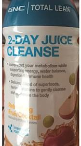 GNC Total Lean 2-Day Juice Cleanse Refreshing Fruit Cocktail
