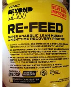 GNC Beyond Raw Vanilla Cake Batter Re-feed Super Anabolic Lean Muscle