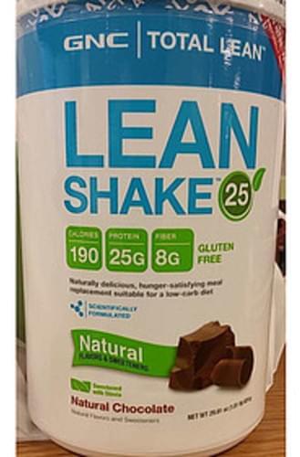 GNC Total Lean Natural Chocolate Gluten Free Lean Shake 25 - 51.5 g