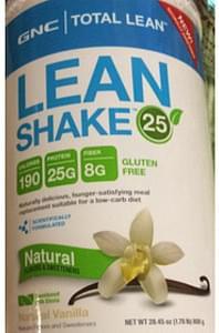 GNC Total Lean Lean Shake 25 Natural Vanilla