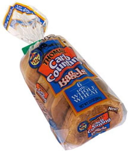 Thomas 100% Whole Wheat Bagels - 6 ea