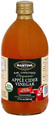 Fratelli Mantova Apple Cider, Organic Vinegar - 17 oz